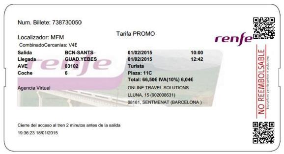 Billetes Ave Barcelona Guadalajara