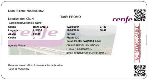 Billetes Ave Barcelona Lleida