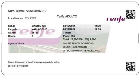 Billetes Ave Madrid Valladolid