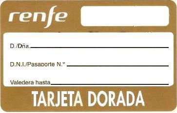 Tarjeta Dorada Renfe