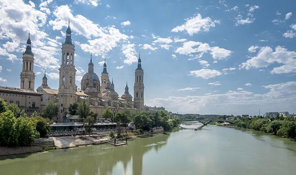Los Pilares de Zaragoza 2017 en los reposacabezas de los trenes AVE