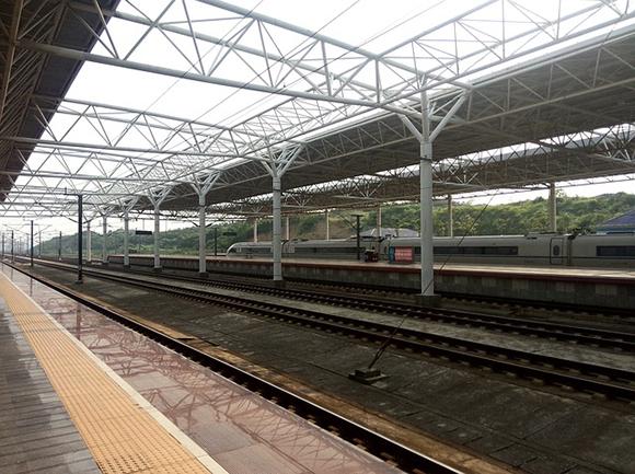 Obras en octubre 2017 en la estación de trenes AVE Guadalajara – Yebes