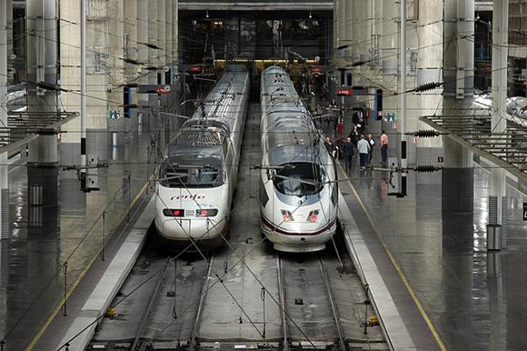 Los usuarios de trenes AVE aumentaron a lo largo de 2018